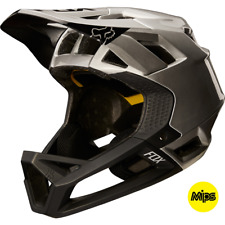 Fox 2018 Proframe Enduro / Downhill MTB Full Face Helmet Black/Silver *RRP £225*