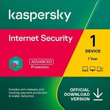 Kaspersky Internet Security 2019 2020 1, 3, 5 or 10 PC / Devices 1yr or 2yr EU