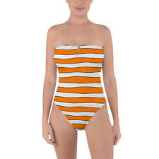 Clownfish Finding Nemo Disney Inspired Tie Back Strapless Swimsuit XS-3XL