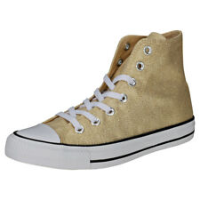 Converse Chuck Taylor All Star Hi Womens Gold White Textile Trainers