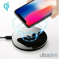 Qi Subir Ultra Delgado Cargador Wireless Vidrio para Galaxy S7 Edge S8+ Note 8