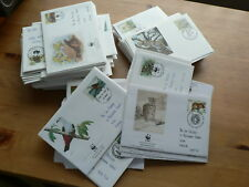WWF World Wildlife Fund First Day Covers, Animals, Birds, Fish, Individual  sets