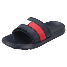Tommy Hilfiger Flag Pool Mens Navy Red White Synthetic Slide