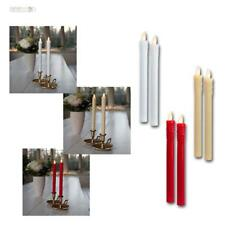 "Led Candele Decorative 2er Set "" Touch "" 25x2cm Cera Reale Cappotto senza Fiamma"