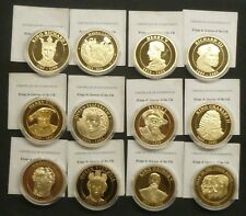 Kings & Queens Of Britain Gold-plated Proof Medallion Choose from drop down menu