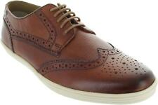 Base London Perform Men's Snake Nat Tan Leather Lace Up Wingtip Brogue Shoes New