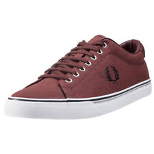 Fred Perry Underspin Mens Burnt Henna Canvas Trainers