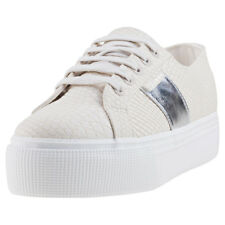 Superga 2790 Pu Snake Womens Cream Synthetic Trainers