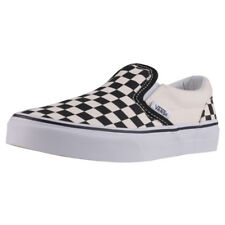Vans Classic Slip-on Checkerboard Kids Black White Canvas Slip On
