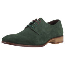 London Brogues Wister Derby Mens Green Suede Shoes