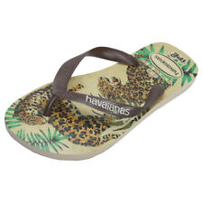 Havaianas Ipe Womens Beige Brown Synthetic Flip Flops