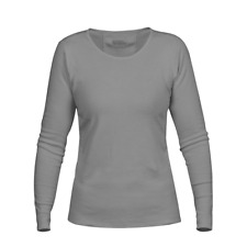 Fjallraven Womens Ovik Long Sleeve Top Grey