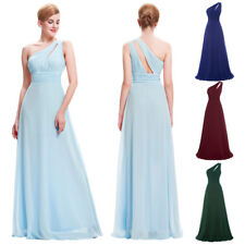 New Evening Dress Prom One Pageant Chiffon Party Wedding Long Bridesmaid Gown