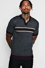 Boohoo Mens Short Sleeve Colour Block Knitted Polo