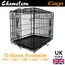 DOG CAGE PUPPY TRAINING CRATE PET CARRIER - 4mm wire SMALL MEDIUM LARGE XL XXL