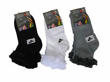 Damas 6 Pares Socks-Girls Volante Calcetines 4 6 grey Escuela Socks-Black