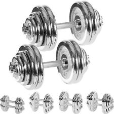 Movit 2x Cromo Pesa Pesas Conjunto de Pesas Short Dumbbell Set Pesas Pesos Set