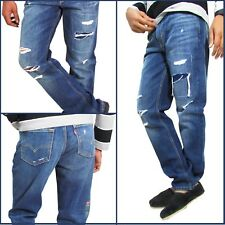 LEVIS 511 (04511-2383) For Mens Riveted Blue Slim Fit Jeans Damaged Ripped Denim