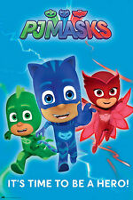 PJ Masks - Time to be a hero - Poster Druck Serie - Größe 61x91,5 cm