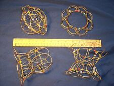 FairTrade Soothing FOLDING WIRE MANDALA Meditation aid Relaxation Spiritual calm
