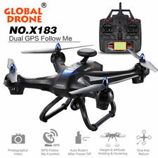 Global Drone X183 With 5GHz WiFi FPV 1080P Camera Dual GPS Brushless Quadcopter