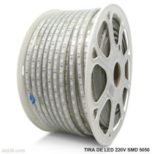 Tira LED 220V rollo de 100 metros 8mm bobina SMD 5050 60 leds metro LED26
