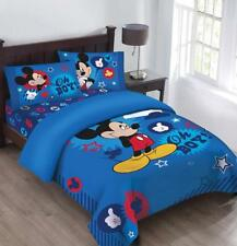 Disney Mickey Oh Boy! Gosh Licensed Twin Comforter Set w/Fitted Sheet
