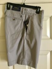 RALPH LAUREN MEN'S POLO GREY RELAXED FIT CARGO SHORTS BRAND NEW WITH TAGS.