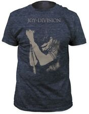 Joy Division - Ian Curtis Photo Pose Heather Navy T-shirt - BRAND NEW (Official)