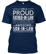 Im A Proud Father-in-law Of Son - I Am Freaking Awesome Standard Unisex T-shirt