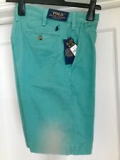 RALPH LAUREN MEN'S POLO GREEN RELAXED FIT CARGO SHORTS BRAND NEW WITH TAGS.