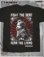 The Walking Dead Twd Daryl Dixon Fight Póster Rick Walker Michonne AMC Camiseta