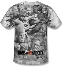 Sons Of Anarchy Brawl Sublimación Soa Samcro Segador Motero Chopper Camiseta