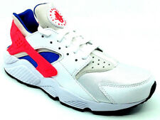 Nike Air Huarache Sneaker (White/Pink/Blue) - 318429-112 Basketball Shoes