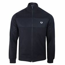 Fred Perry Uomo Blu Scuro con Pannelli Track Top