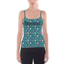 Snowmen and Candy Canes Camisole Spaghetti Strap Tank Top