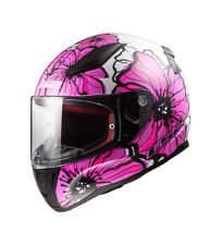 LS2 Helmets - Casco integral Rapid FF353 Poppies Pink  Rosa