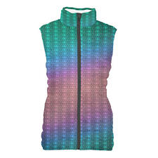 Iridescent Dragon Scales Womens Puffer Vest Bodywarmer Gilet