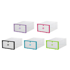 Colorful Shoe Storage Box Drawer Case Organizer Plastic Home Clear Boxes 1pcs
