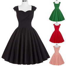 Dress Evening Pinup Cocktail Retro Vintage Womens Party Swing Sleeveless 50's