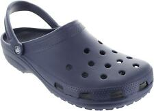 Crocs Classic Men's Slip On Navy Clog Style Sandals With Moveable Backstrap New