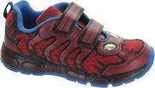 Geox J Android B.b Boys Red Spider Style Dual Strap Light Up Trainers New