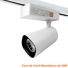 Foco LED blanco de carril monofasico Lampara Led 30W para Riel Superficie LED26