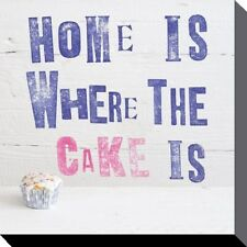 Canvas Print Howard Shooter Home Is Where The Cake Is 40 x 40cm