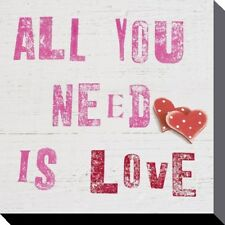Canvas Print Howard Shooter All You Need Is Love 40 x 40cm