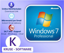 Windows 7 / 10  Professional Win 7 Pro OEM, direkt per email
