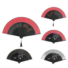 Silk Chinese Spanish Dance Wedding Party Bamboo Folding Pocket Hand Held Fan