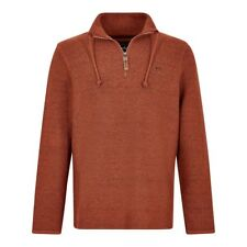 Weird Fish - Men's - Skipper Macaroni - 1/4 Zip - Brick Orange