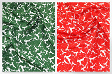 Christmas Polycotton Fabric (P872-Red-M)