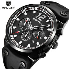 BENYAR Luxury Chronograph Sport Men Quartz Watches Military Silicone Band Gifts